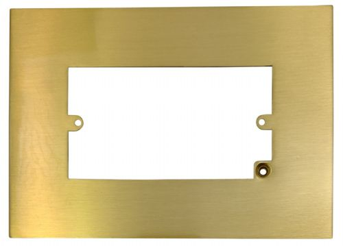 G&H 810SB Satin Brushed Brass Finger Plate Surround 212mm x 152mm for Double Plate